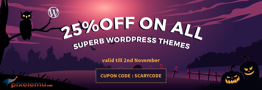 Halloween sale on WordPress themes