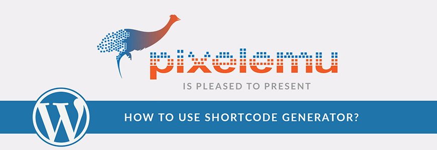 Shortcode generator for WordPress themes