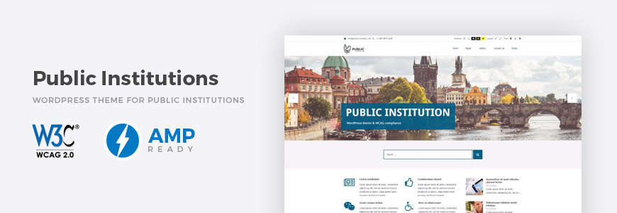 Public Institutions WordPress Theme with WCAG Compliance. - PixelEmu