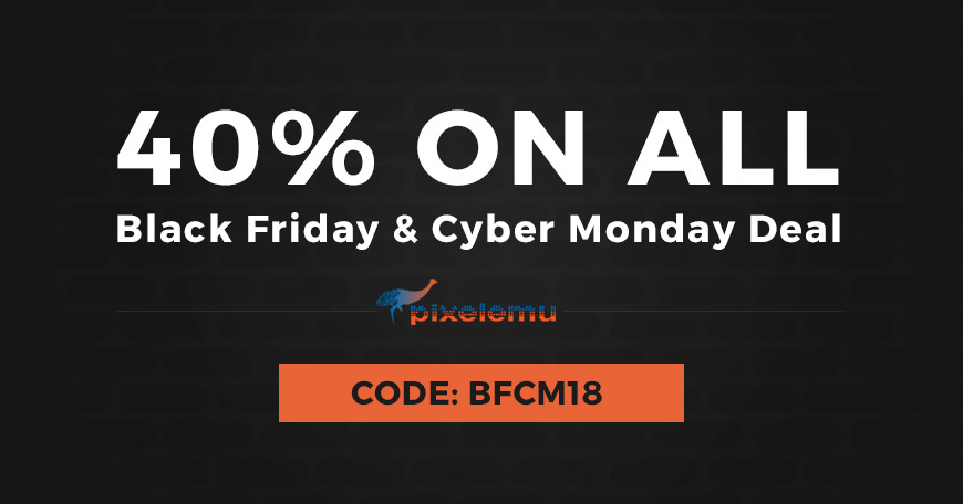 Black Friday and Cyber Monday 2018 discount on WordPress themes.
