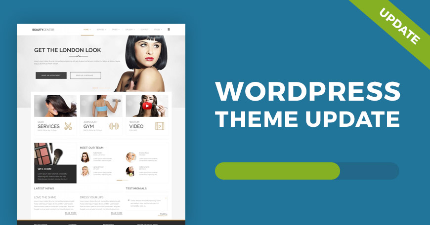 Beauty Center free WordPress theme