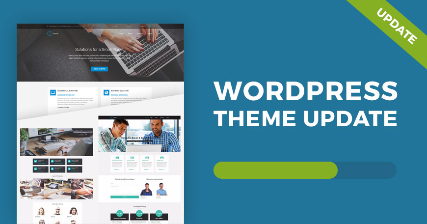 Internet WordPress theme updated
