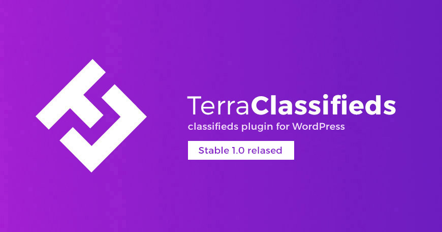 TerraClassifieds free classifieds WordPress plugin - Stable 1.0 released.