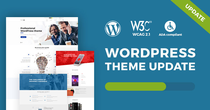 Business WCAG and ADA WordPress theme updated to ver. 1.05.