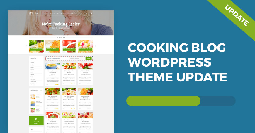 Cooking Blog WordPress theme updated