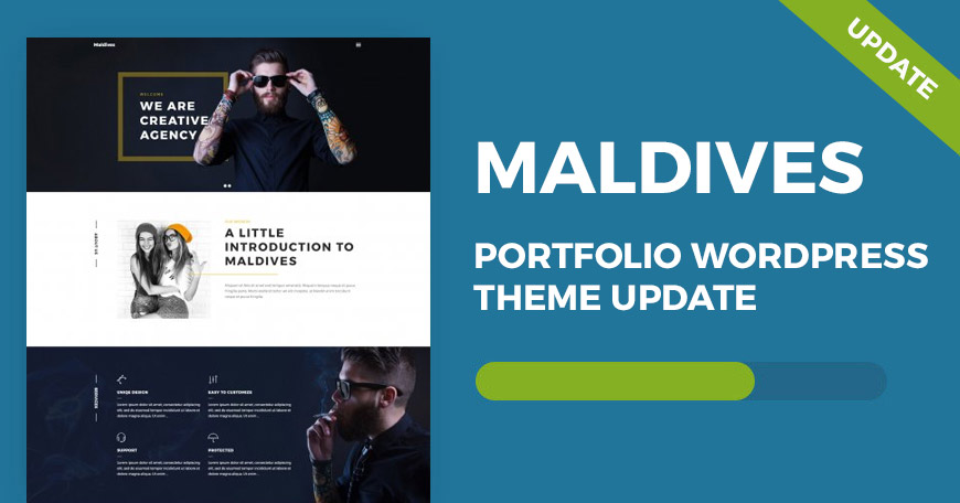 Maldives portfolio WordPress theme updated to ver. 1.07