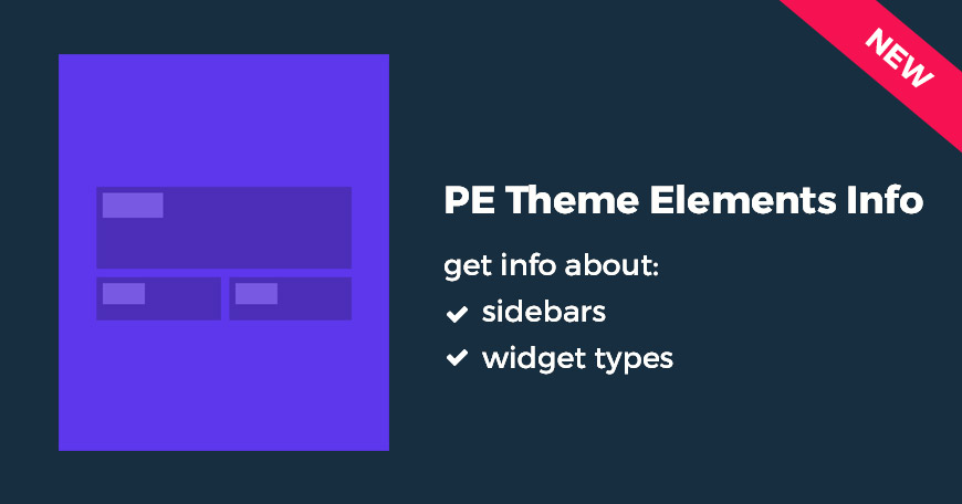 WordPress plugin to get info about sidebars and widgets types quickly.