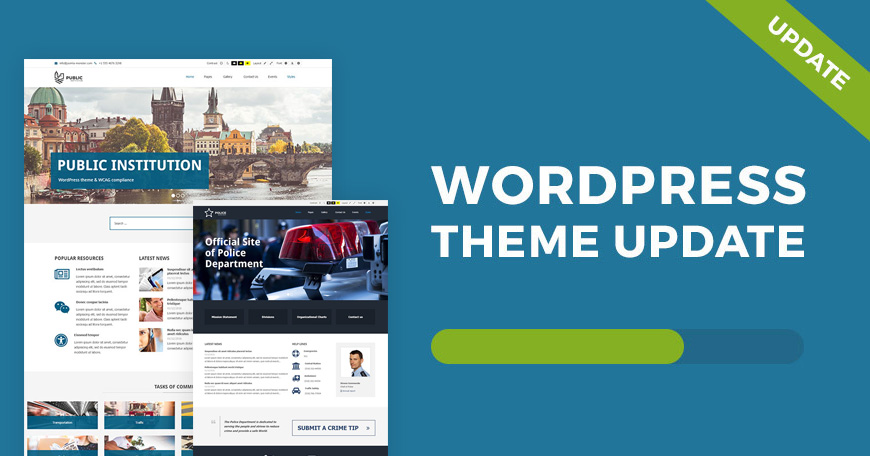 Public Institutions WordPress theme updated WCAG and ADA