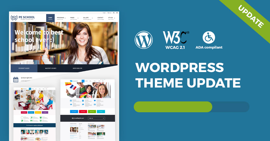 School WCAG and ADA WordPress theme updated to ver  1 11 Check what