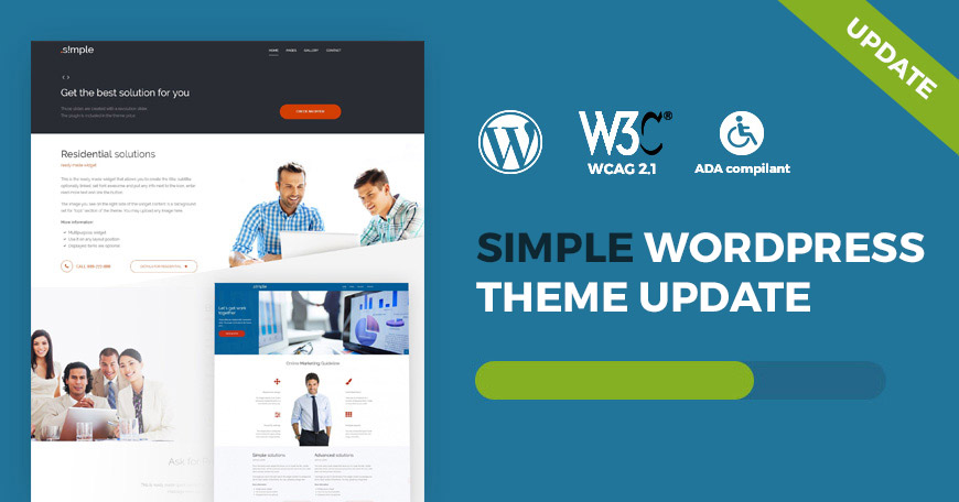 Simple WCAG and ADA WordPress theme updated