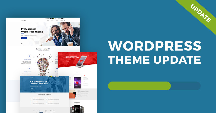 Wordpress themes have been updated