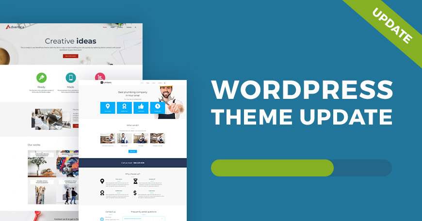 Company WCAG and ADA WordPress theme update brings great new features.