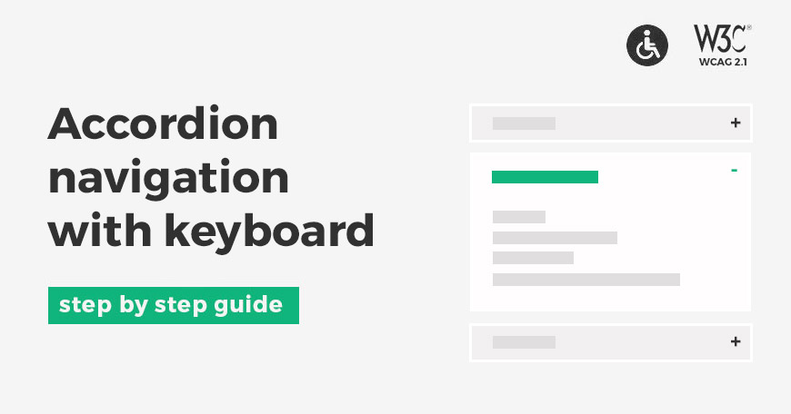 How to properly navigate accordion using keyboard according to WCAG recommendations.