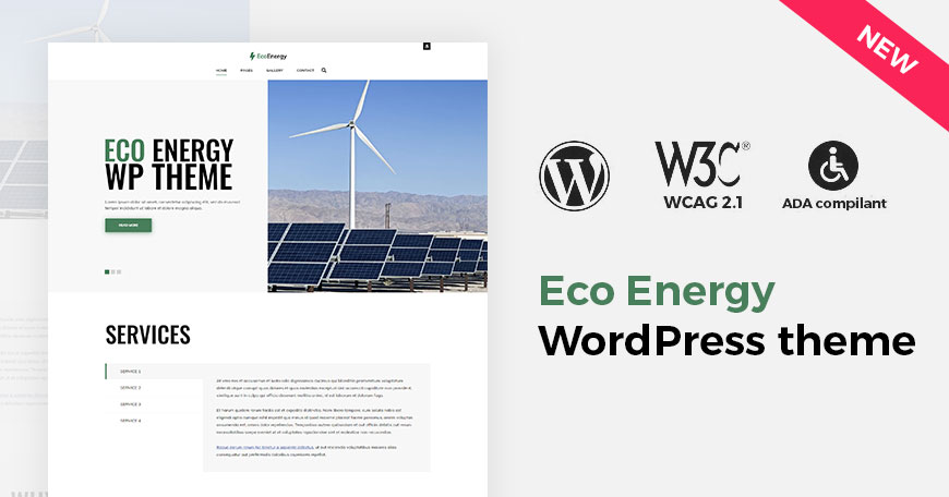 Eco Energy - the new WordPress theme is ready to download. Meet the hot new release!