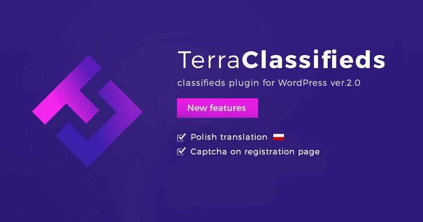 TerraClassifieds WordPress classifieds plugin updated to ver. 2.0. Check what changed.