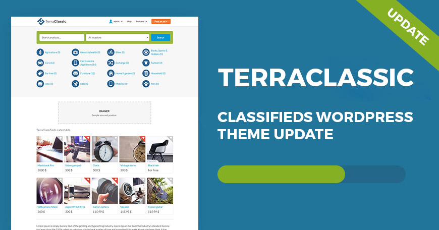 TerraClassic WordPress theme updated to ver. 1.06.