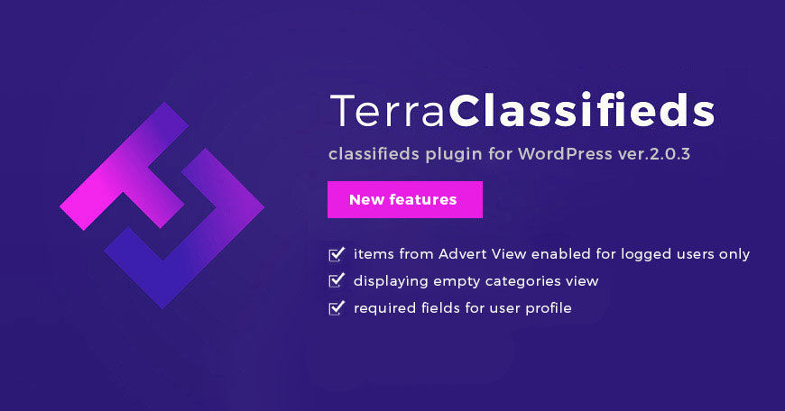 TerraClassifieds classifieds plugin for WordPress updated: Check what changed in 2.0.3 version