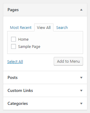 Add menu link in WordPress