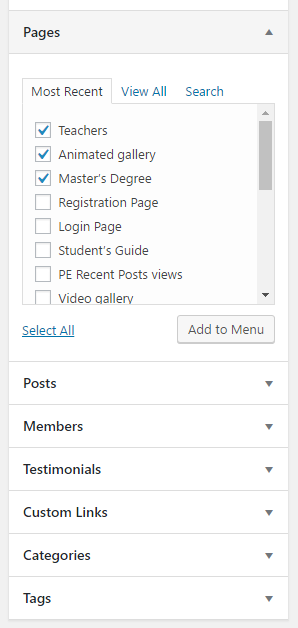 Add post to menu in WordPress