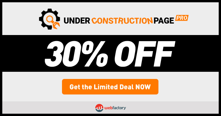 under construction page black friday banner