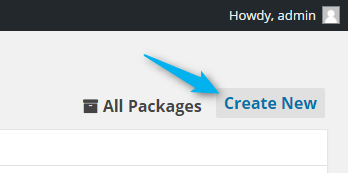 create new WordPress backup