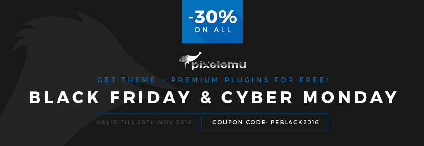 Black Friday and Cyber Monday sale is running!