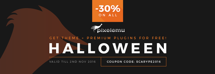 Halloween discount on WordPress themes