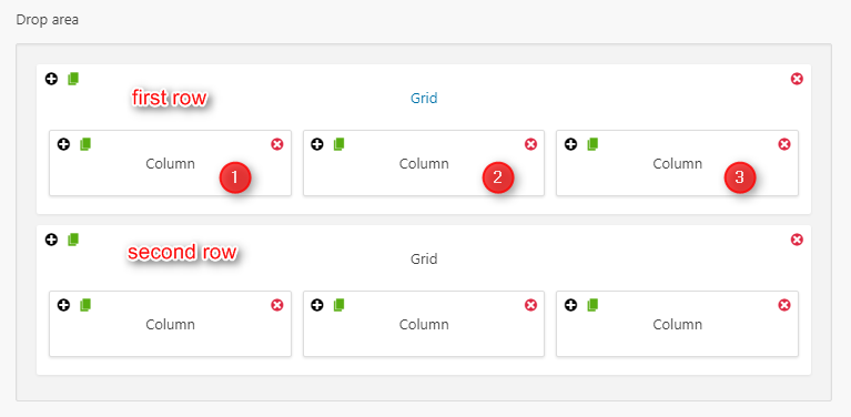 shortcode in grid bootstrap wordpress