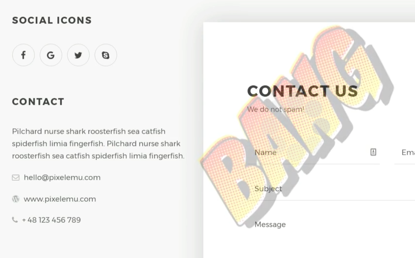 contact business theme 2