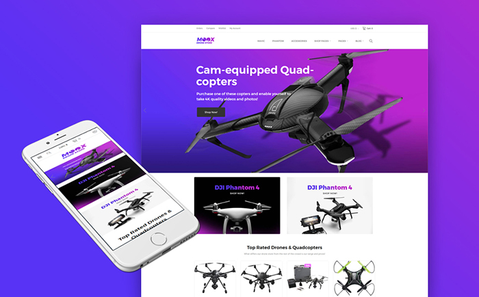 New Electronic Store WooCommerce Template