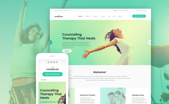 Counseling Healthcare Responsive WordPress Template