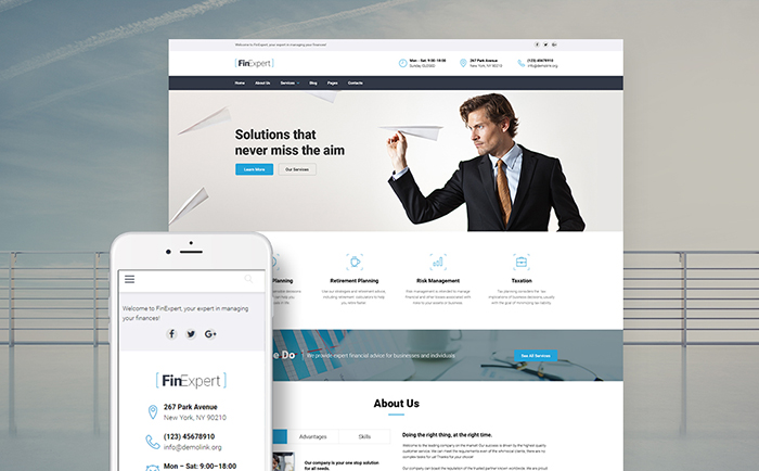 Financial Consultant Responsive WordPress Theme
