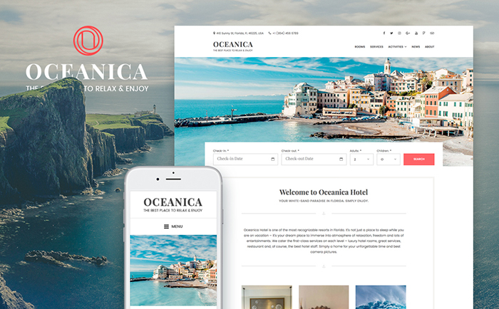 Room & Apartment Booking WordPress Template