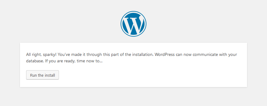 wordpress successful connection