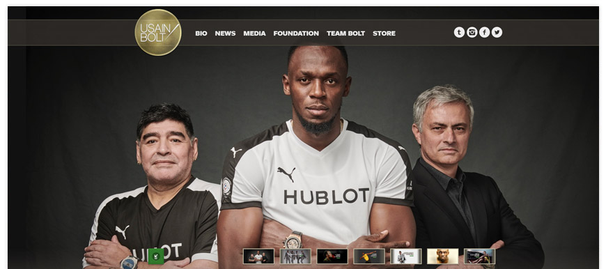 usain bolt website