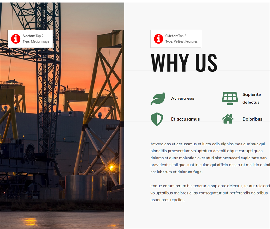 How to manage why us section wordpress theme
