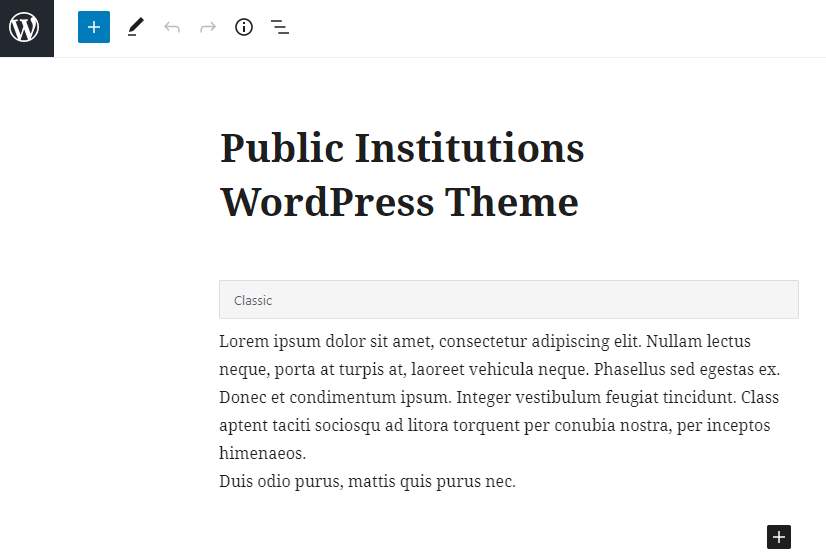 edit front page content wordpress