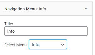 navigation menu settings wordpress
