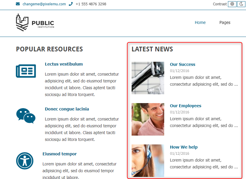 latest news widget wordpress