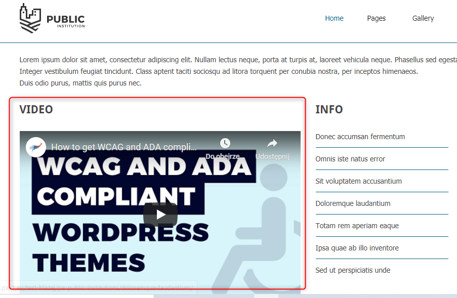 how to add video wordpress theme