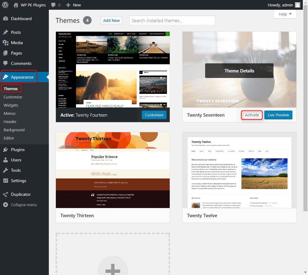 How to change WordPress theme?