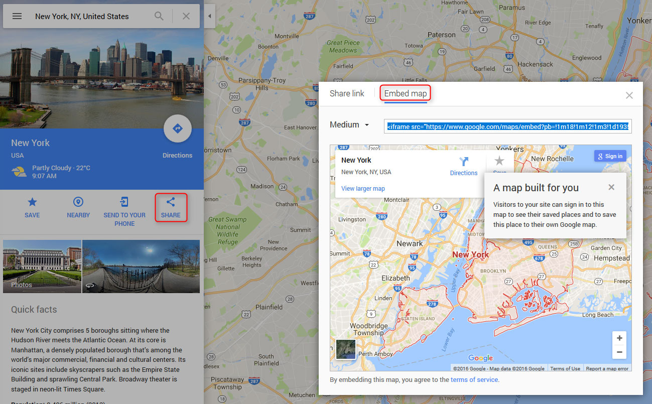 Embed Google Map in WordPress theme