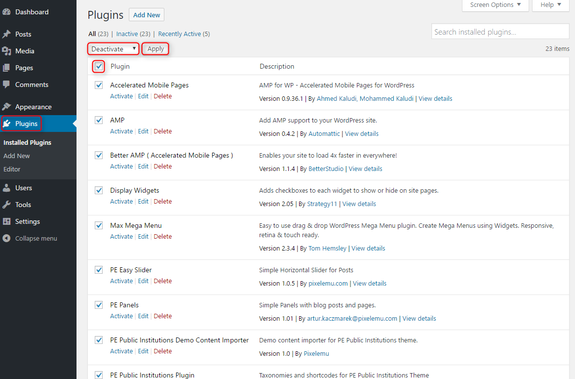 Fix 500 Internal Server Error in WordPress - PixelEmu