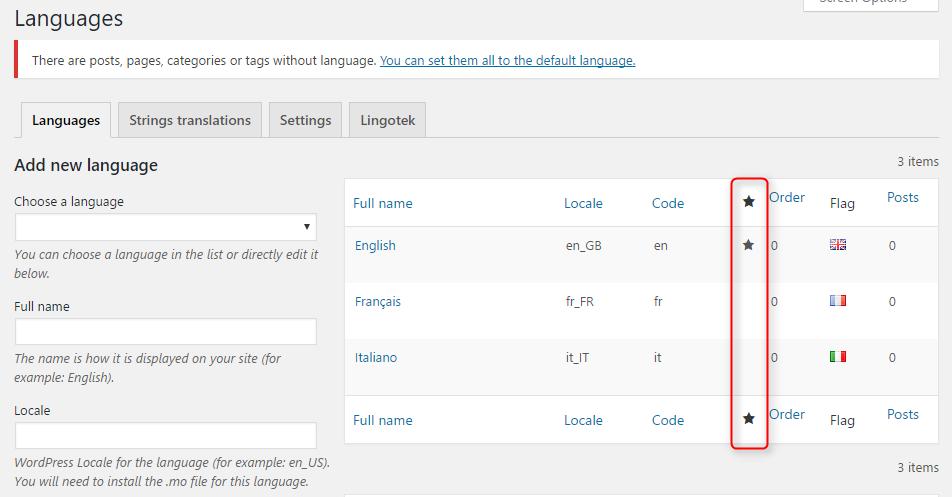 polylang 2 - Cách tạo trang Wordpress đa ngôn ngữ với plugin Polylang từ A-Z