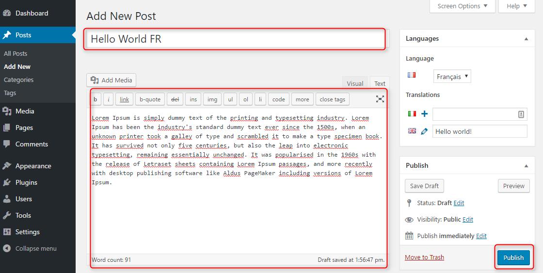 polylang 9 - Cách tạo trang Wordpress đa ngôn ngữ với plugin Polylang từ A-Z