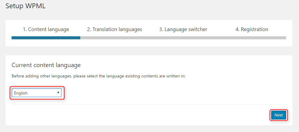 multilingual WordPress site with WPML