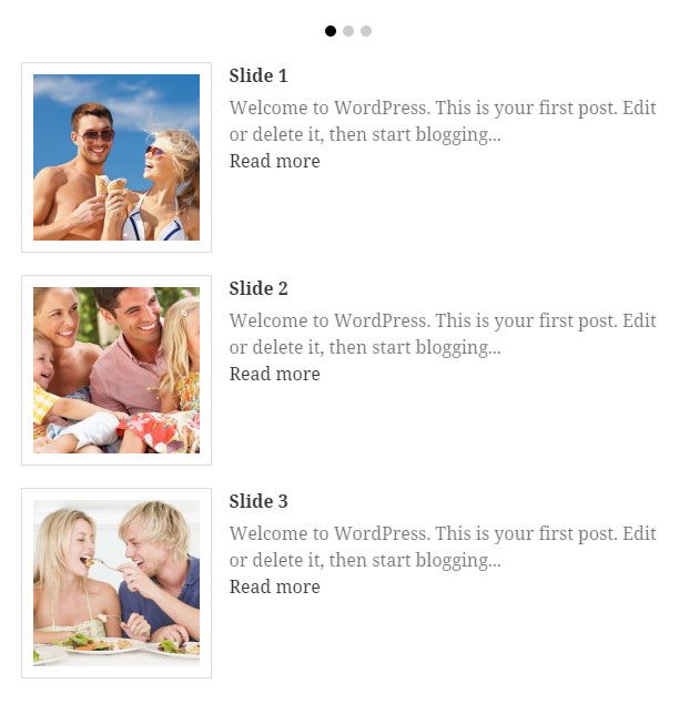 recent posts thumbnail for wordpress