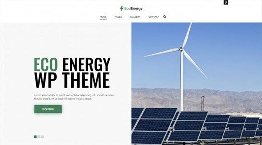 Eco Energy WordPress theme with accessibility features of WCAG and ADA compliance