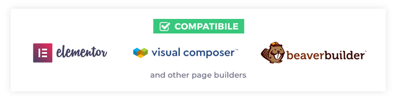 wordpress theme compatible visual builders
