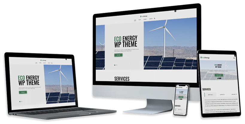 eco energy wordpress theme responsive